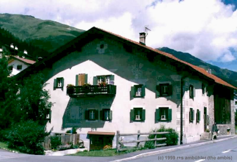 A typical house in the Engadina