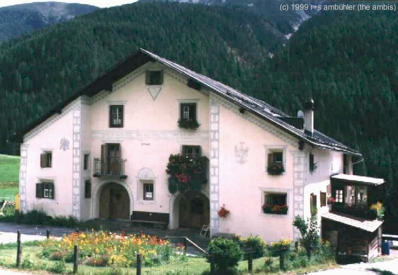 Houses Of The Engadina Switzerland